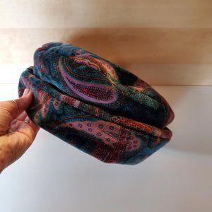3/30$ 🍂 Vintage 90s Cotton Velvet Paisley Garden Hat